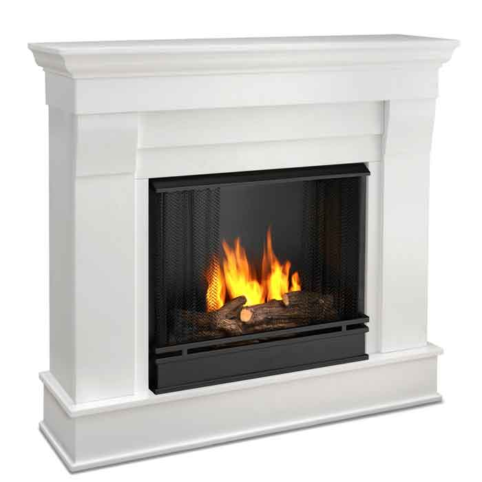 chateau 5910 w white gel fuel fireplace just fireplaces