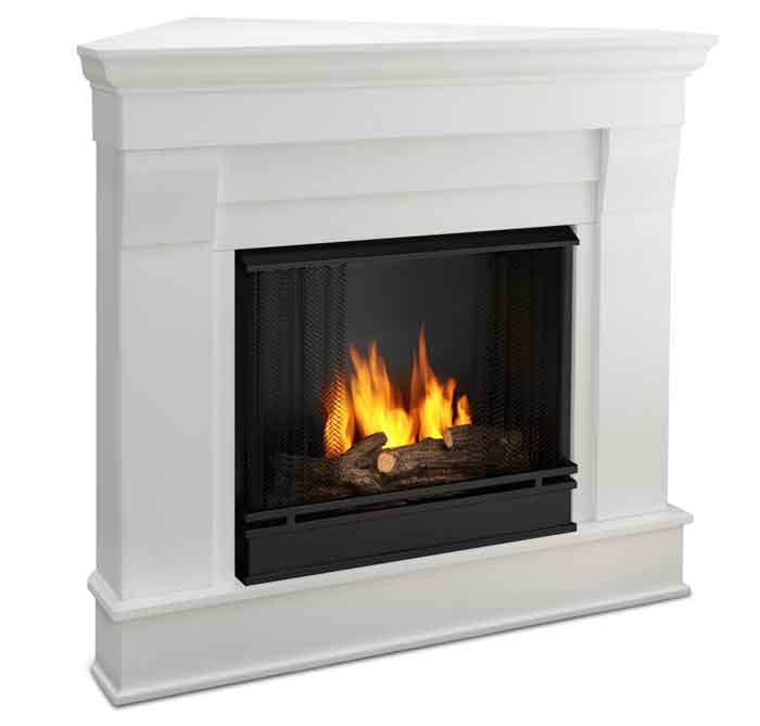 The Chateau 5950 W Corner Gel Fireplace Just Fireplaces