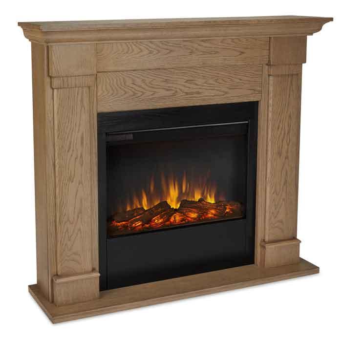 Lowry 7990E BO Electric Fireplace in Blonde Oak Just