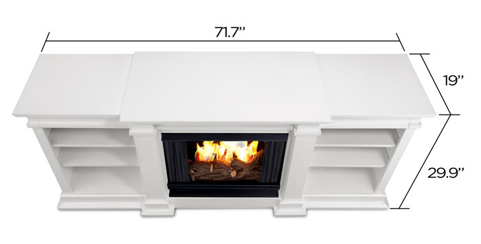 Fresno G1200 W Media Center Gel Fireplace In White Just Fireplaces
