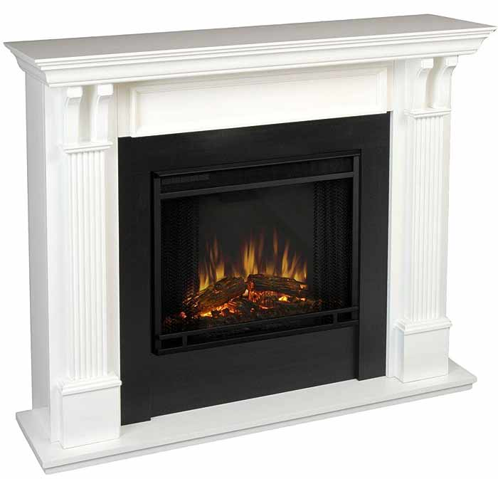 Ashley 7100e W White Electric Fireplace Just Fireplaces