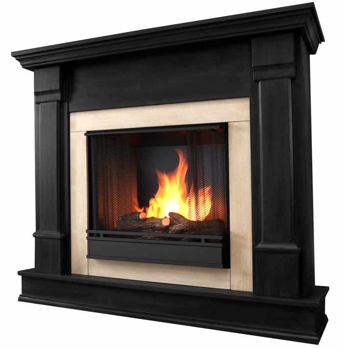 silverton g8600 b black gel fireplace just fireplaces