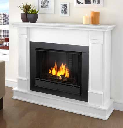Silverton G8600-W White Gel Fireplace