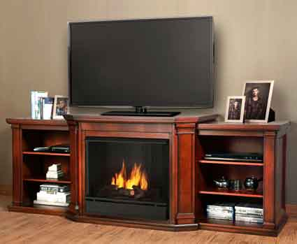 Valemont 7930 Dm Gel Fuel Fireplace In Dark Mahogany Just Fireplaces