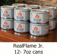 Real Flame Jr. 2122 Gel Fuel - 12 Pack Smaller Seven Ounce Cans