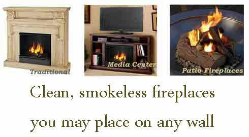 Gel fireplaces from Just Fireplaces